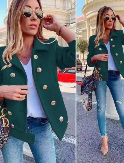Μάλλινό jacket σε πράσινο κωδ 290-1