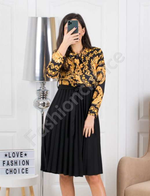 Floral midi φόρεμα πλισέ κωδ 324