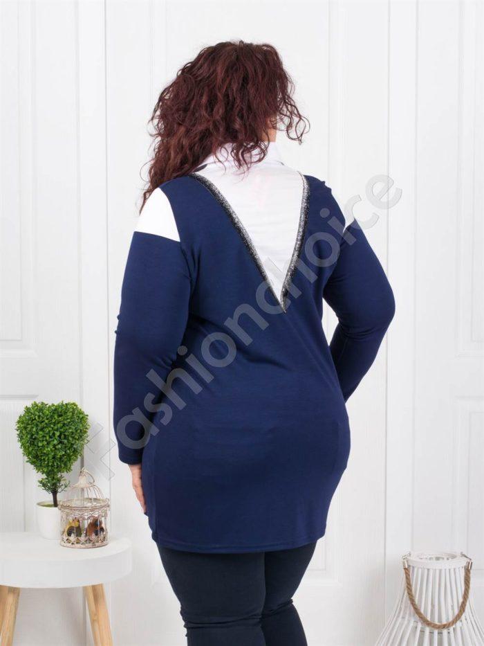 Τουνίκ τύπου πουκάμισο σε μπλε κωδ 1168-2