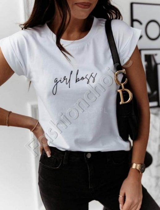 Μπλούζα σε λευκό με επιγραφή κωδ 879-3-1