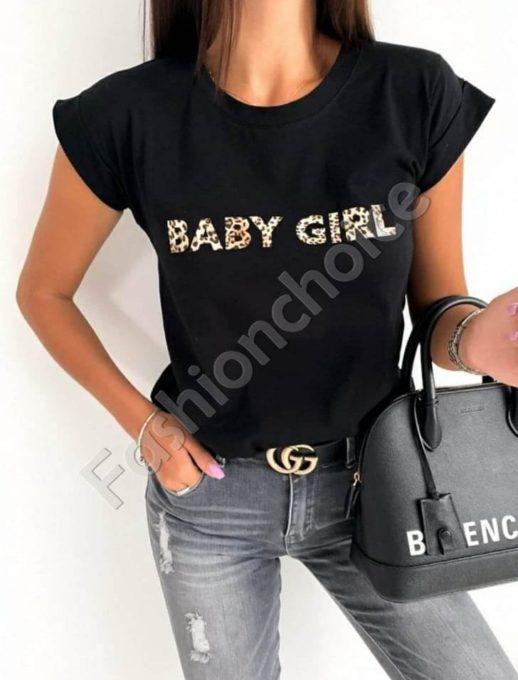 Μπλούζα σε μαύρο με επιγραφή κωδ 878-4