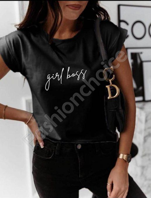 Μπλούζα σε μαύρο με επιγραφή κωδ 879-3