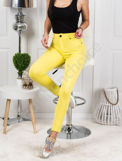 Ελαστικό παντελόνι σε κίτρινο κωδ 244-2
