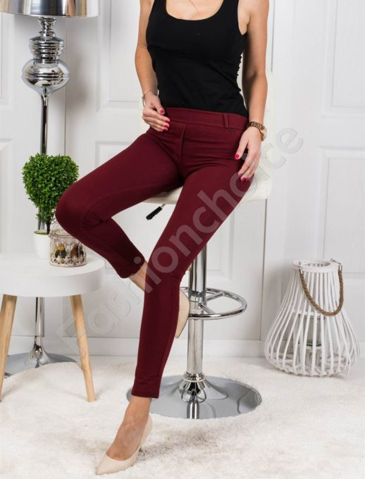 Παντελόνι-κολάν σε μπορντό χρώμα κωδ 244