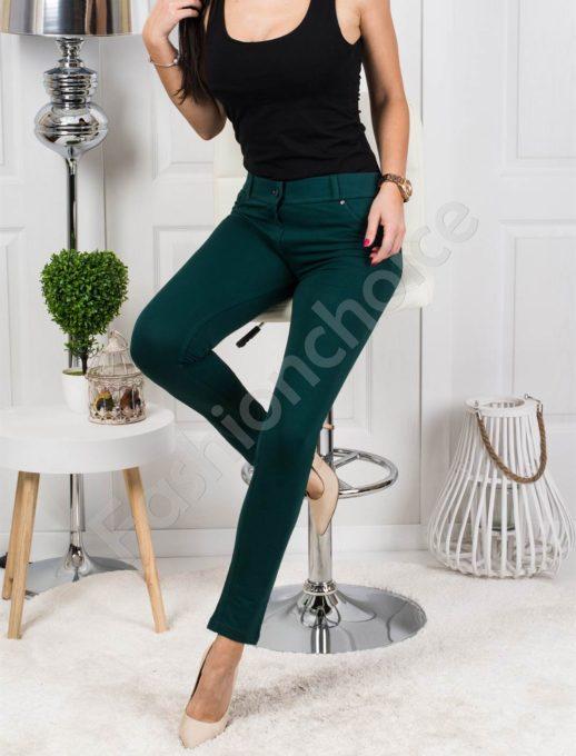 Ελαστικό παντελόνι σε χρώμα πετρόλ κωδ 244-1