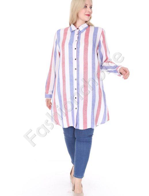 Ριγέ πουκαμίσα μεγάλο μέγεθος κωδ 1413-20