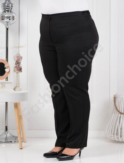 Μαύρο παντελόνι σε κλασσική γραμμή plus size κωδ 013