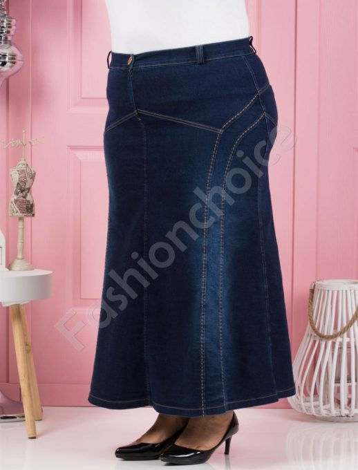Τζιν μάξι φούστα σε μπλε κωδ 107