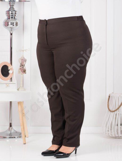 Κλασσική γραμμή παντελόνι σε καφέ κωδ 013-2