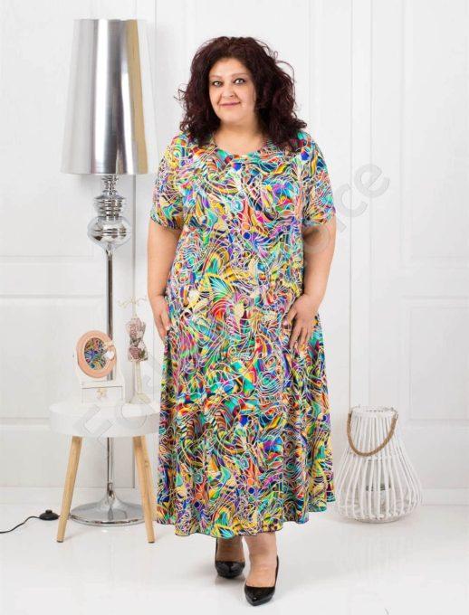 Μάξι χρωματιστό φόρεμα κωδ 1110-3