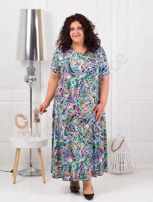 Μάξι φλοράλ φόρεμα-μπλε κωδ 1110-4
