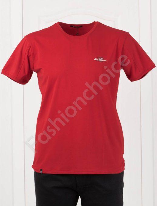 Plus Size T-shirt σε κόκκινο κωδ 073-6