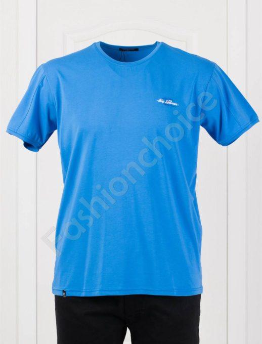 Plus Size T-shirt σε μπλε κωδ 073-7