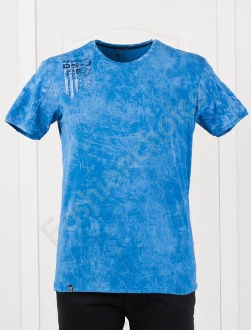 Plus Size T-shirt σε μπλε κωδ 148-1
