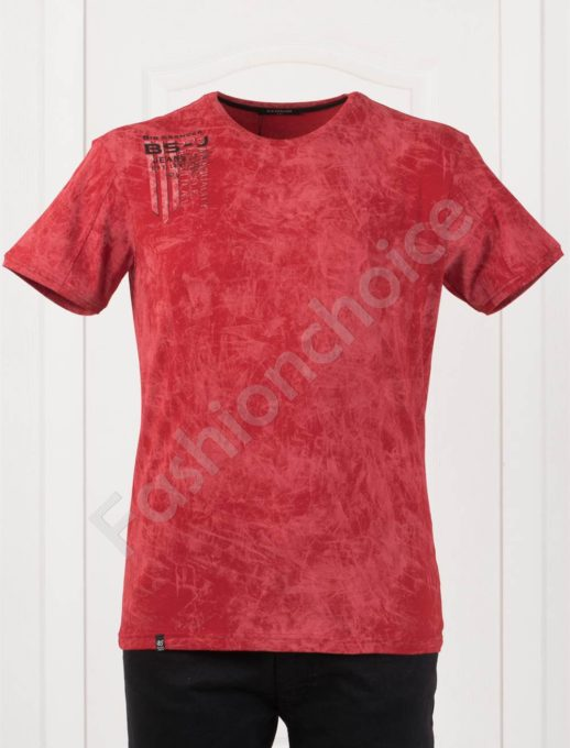 Plus Size T-shirt σε κόκκινο κωδ 148