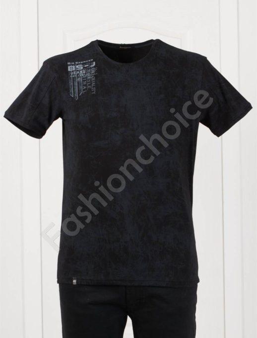Plus Size T-shirt σε μαύρο κωδ 148-3