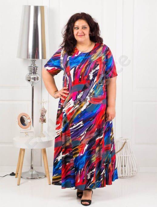 Μάξι χρωματιστό φόρεμα κωδ 1110-11