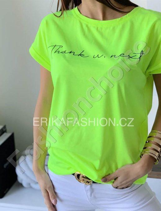 Μπλούζα με επιγραφή σε neon πράσινο κωδ 965-13