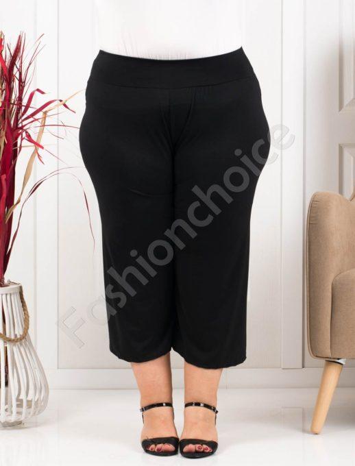 Plus size κάπρι παντελόνι σε μαύρο κωδ 616