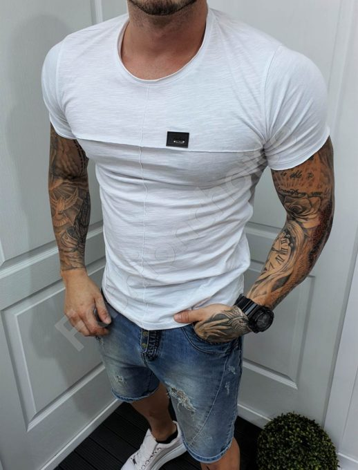 Ανδρικό T-shirt σε λευκό κωδ 989-1