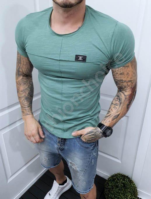 Ανδρικό T-shirt σε πράσινο κωδ 989-2