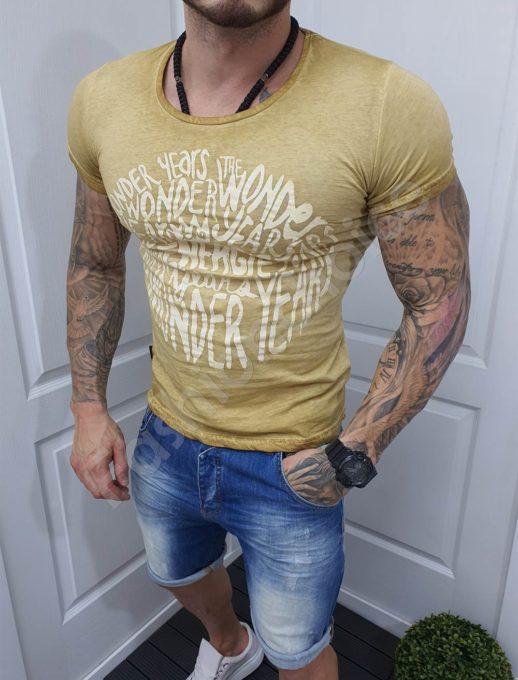 Ανδρικό T-shirt σε μπεζ κωδ 1004-5-1