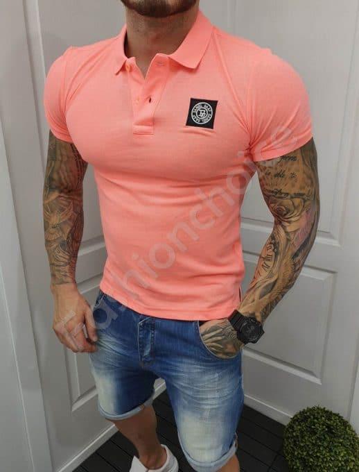 Πόλο μπλούζα σε νέον ροζ κωδ 5320-1